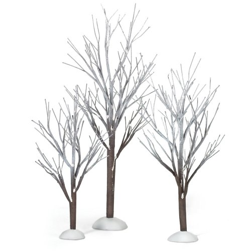 Christmas Decorations In White - Department 56 Snow Village First Frost Trees (Set of 3)