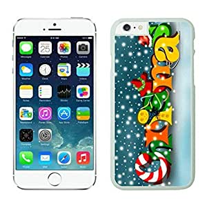The Christmas Tree On Christmas Day Lovely Mobile Phone Protection Shell for iphone 6 Case-Unique Soft Edge Case(2015),Merry Christmas iPhone 6 Case 42 White