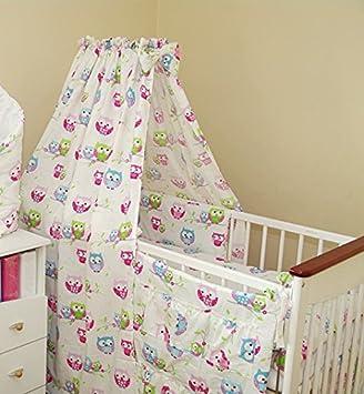 Neu 6tlg Baby Bettwasche Himmelset Eule Kissen Decke Nestchen