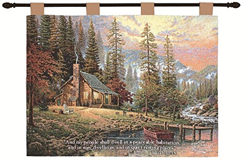 Thomas Kinkade wall tapestry -  nature wall art - Fantasy Wall Decor