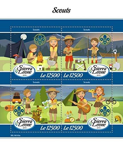 Sierra Leone - 2019 Boy & Girl Scouts - 4 Stamp Sheet - SRL190103a