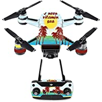 Skin for DJI Spark Mini Drone Combo - Vitamin Sea| MightySkins Protective, Durable, and Unique Vinyl Decal wrap cover | Easy To Apply, Remove, and Change Styles | Made in the USA