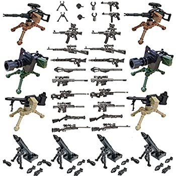 SPRITE WORLD Military Army Weapons and Accessories Mortar Building Block Toy Compatible Major Brand