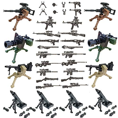SPRITE WORLD Military Army Weapons and Accessories Mortar Building Block Toy Compatible Major Brand ()