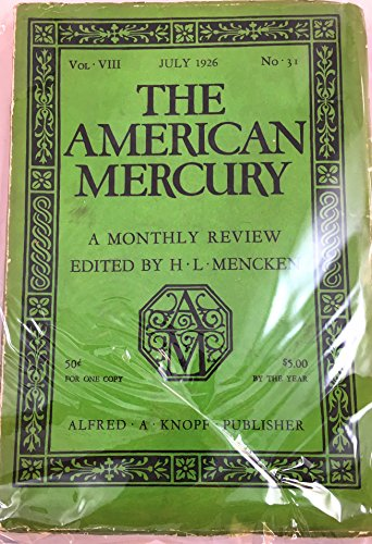 Books : The American Mercury July 1926