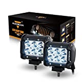 "Auxbeam 2Pcs 4"" LED Light Bar 18W LED Pod CREE Driving Lamp Spot Beam 30 Degree Waterproof for Off-road ATV SUV Jeep Boat 4WD ATV Pickup Off-road Ford"