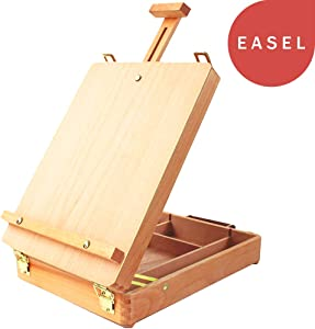 Tabletop Easel Art Easel Desktop Easel for Painting, Premium Wooden Sketchbox Easel, Desktop Painting Easel for Student Artist Beginner