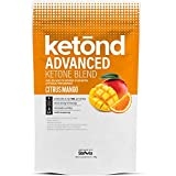 Ketond Advanced Ketone Supplement - 11.7g of goBHB per Serving (30 Servings) - #1 Rated BHB (Beta-HydroxyButyrate) Supplement for Weight Loss, Increased Energy, Focus & Fat Loss (Citrus Mango)