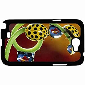 New Style Customized Back Cover Case For Samsung Galaxy Note 2 Hardshell Case, Back Cover Design Insects Coccinellidae Personalized Unique Case For Samsung Note 2