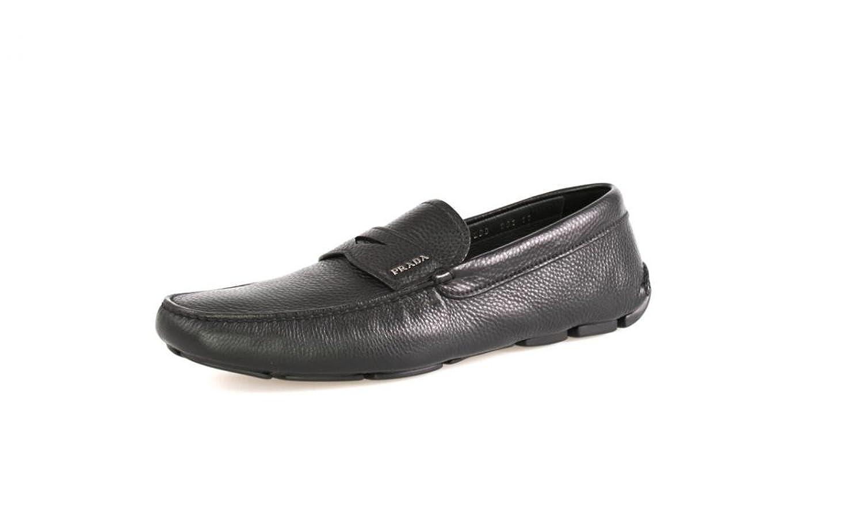 Prada Men's 2DD001 Leather Loafers