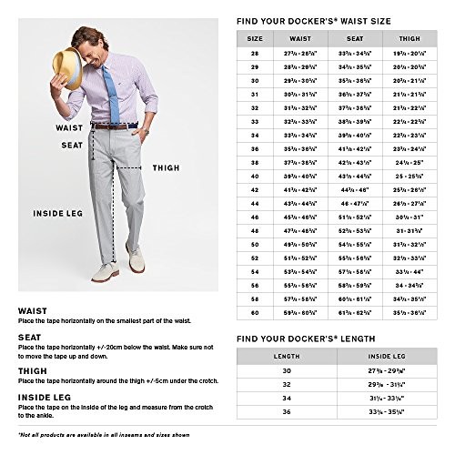 bbfdf0489d735 Dockers Men's Insignia Wrinkle-Free Khaki Classic-Fit Flat-Front ...