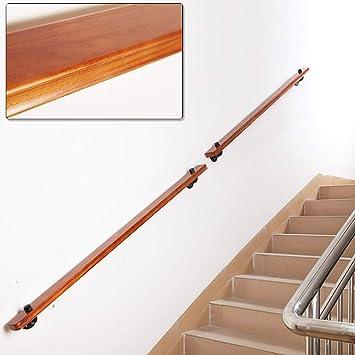 Madera sólida antideslizante de la barandilla de la escalera, pino Muro de Seguridad Barandilla for los ancianos y niños, adecuado for escaleras, casas, Lofts (rojo) (Size : 100cm): Amazon.es: Bricolaje y herramientas