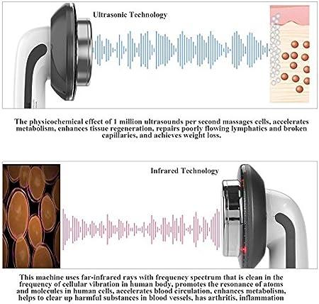 NBD 6 en 1 Máquina Reafirmante del Cuerpo Cavitación Ultrasónica Máquina EMS Grasa Anti Celulitis Remover Pérdida de peso Dispositivo de Estiramiento de la piel Cavitación