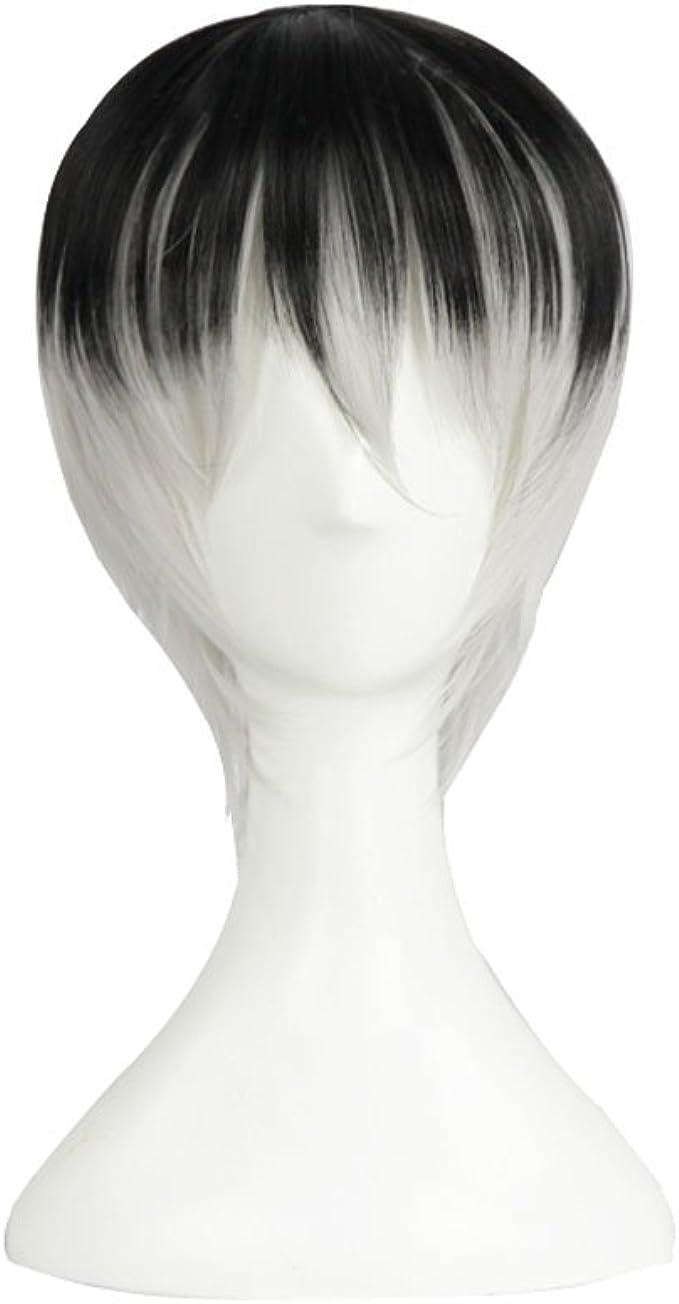 Tokyo Ghoul Kaneki Ken Cosplay peluca cara cerca Blanco recto ...