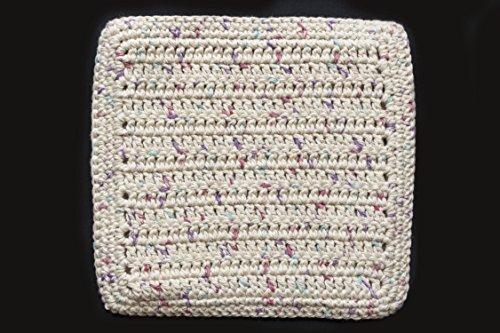 Crocheted Pot Holder - 100% Cotton Hand Crocheted Pot Holder Hot Pad Doily Color: POTPOURRI