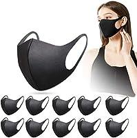 10 Stück Fashion Unisex Wiederverwendbare und waschbare schwarz