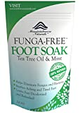 Athletes Foot Soak Honestie Naturals Tea Tree Oil Foot Soak with Epsom Salt and Peppermint Herbal Blend, Funga-Free, 14 Ounce
