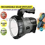 NEW OMEGA RECHARGEABLE MAINS SOLAR POWER SPOTLIGHT LED TORCH WEATHERPROOF LIGHT