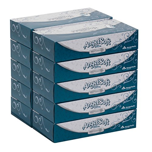 (Angel Soft Ultra Professional Series 2-Ply Facial Tissue by GP PRO (Georgia-Pacific), Flat Box, 4836014, 125 Sheets Per Box, 10 Boxes Per)