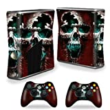 #10: MightySkins Skin For X-Box 360 Xbox 360 S console - Wicked Skull | Protective, Durable, and Unique Vinyl Decal wrap cover | Easy To Apply, Remove, and Change Styles | Made in the USA