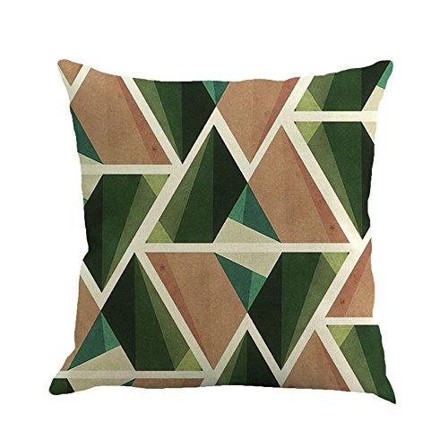 GOVOW Couch Cushion Covers for Individual Cushions Geometric Painting Linen Throw Pillow Case Sofa Home Decor]()