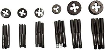 """6 SIZES BRITISH STANDARD FINE 24 pcs All RIGHT TAP AND DIE SET 3//16 TO 1//2/"""" BSF"""