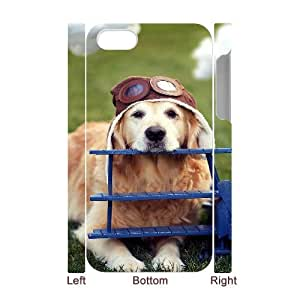 3D Naza Dog & Cute IPhone 4/4s Cases Cute Dog Dress up Protective Cute for Girls, Phone Case for Iphone 4s for Girls Protective Cute for Girls [White]