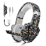 Kotion Each G9600 Gaming Headphones with Mic and LED Light (Camouflage Black)
