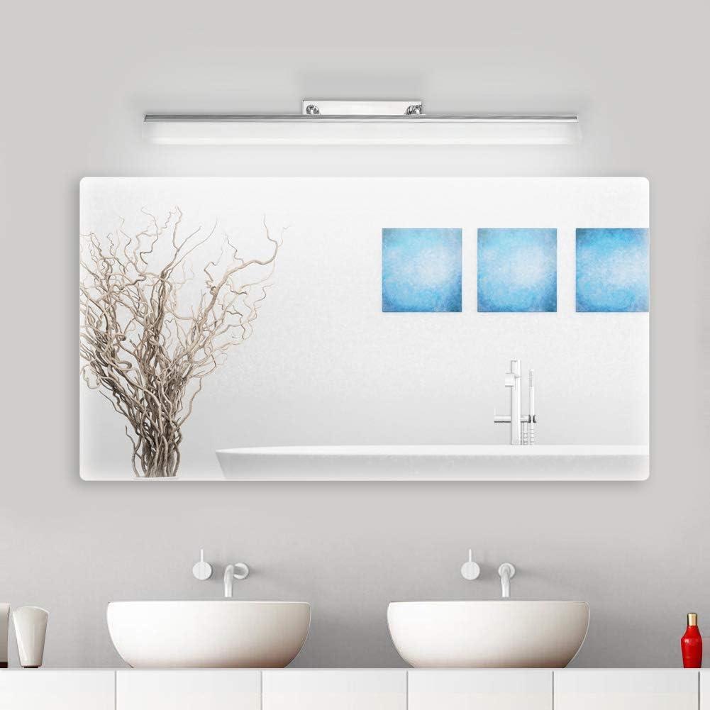 Klighten Lampe pour Miroir LED Salle de Bains IP44 18W Lampe Miroir Applique Murale Int/érieure Moderne Luminaire Salle de Bain Blanc Neutre 5500K 80CM