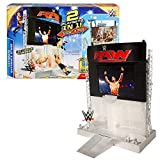 Mattel Year 2015 World Wrestling Entertainment WWE 2 in 1 Electronic Playset - ULTIMATE ENTRANCE STAGE with Back Stage and 4 LED Light Modes