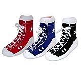 MumMe, Unisex Baby Classic High Tops Sock Set in Organic Cotton (3 pairs)