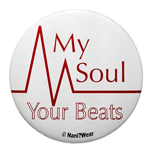 (Nani?Wear Angel Beats Anime 2.25 Inch Geek Button: My Soul Your Beats)
