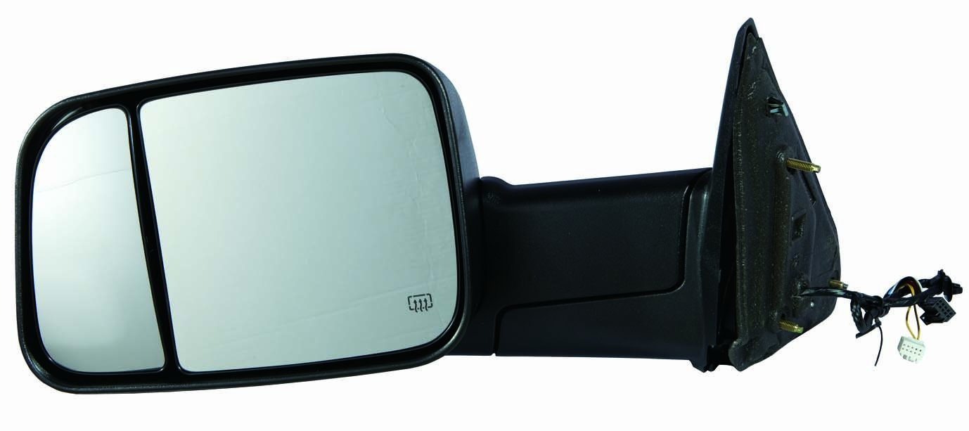 Depo 334-5419L3EFH1 Dodge RAM 1500/2500/3500 Driver Side Textured Heated Power Towing Mirror with Turn Signal, Puddle Lamp