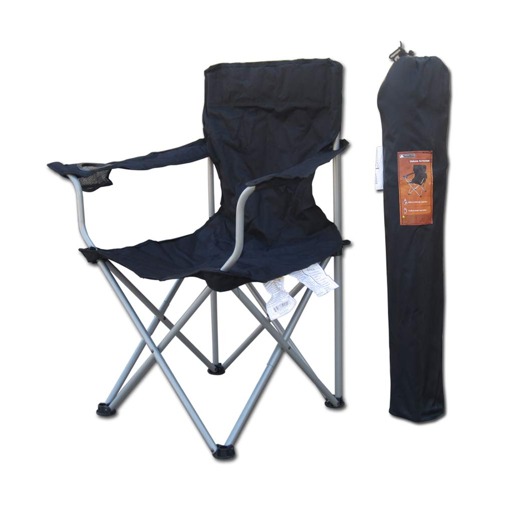 DHMHJH Outdoor Leisure Folding Chair with Armrest Light Portable Fishing Chair Beach Train Folding Chair Outdoor Home Durable