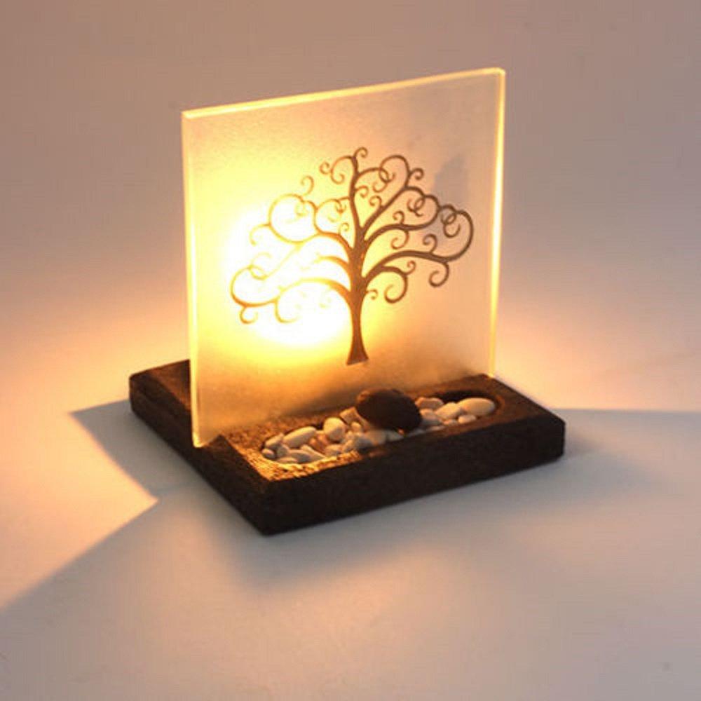 Portacandela albero della vita con display illuminato Sweet Guava
