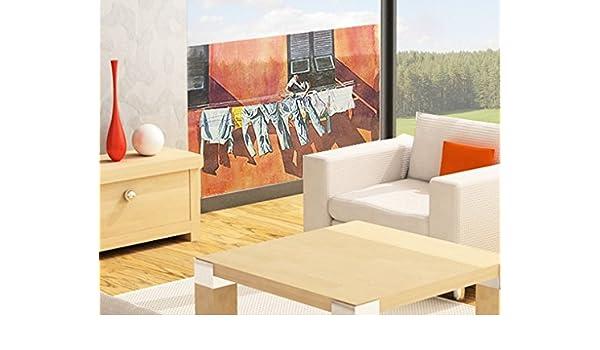 Mural de ventana Laundry In The Summer Wind, Dimensione:36cm x ...