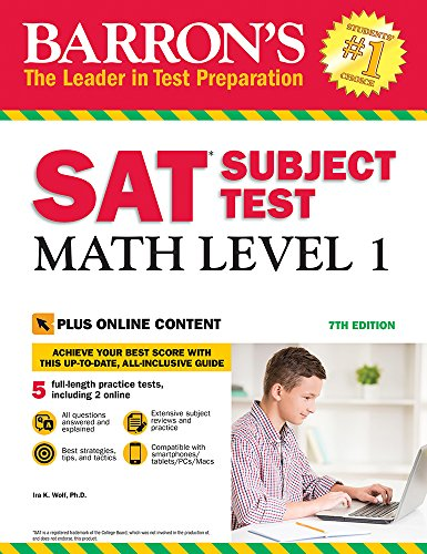 Barron's SAT Subject Test: Math Level 1 with Online Tests (1 Ii Sat Level Math)
