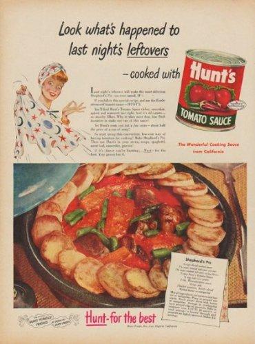 1949 Hunt's Tomato Sauce Ad