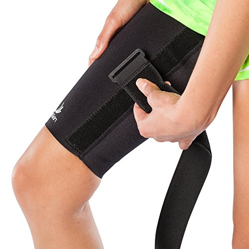 Medical Grade Compression Sleeve with Additional, Targeted Compression Cinch Strap to Relieve Pain from Quad and Hamstring Strains and Injuries - Thigh Skin with Cinch by BioSkin (XLarge) by BioSkin (Image #5)