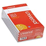 Universal 46300 Perforated Edge Writing Pad, Narrow Rule, 5 x 8, White, 50 Sheet (Pack of 12)