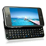 MegaGear Slim Designed Wireless Sliding Bluetooth Backlit Black Keyboard Case with MegaGear Pouch For Apple iPhone 5/5S (QWERTY)