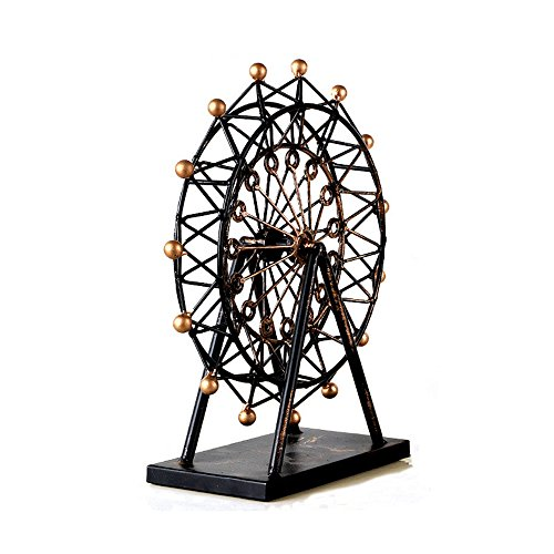 MyLifeUNIT Decorative Vintage Ferris Wheel - London Eye, Tin Metal Home - Wheel Eye London Ferris