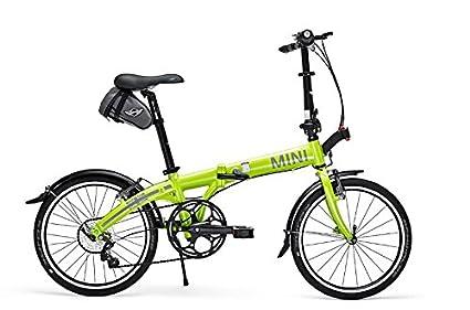 Amazon Com Mini Cooper Folding Bike Lime Color Folding Bicycles