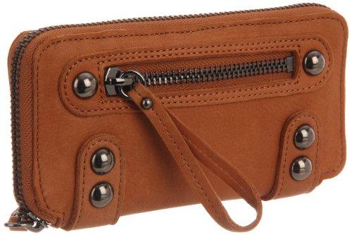 Linea Pelle Women's Dylan Zip Wallet, Toffee, Bags Central