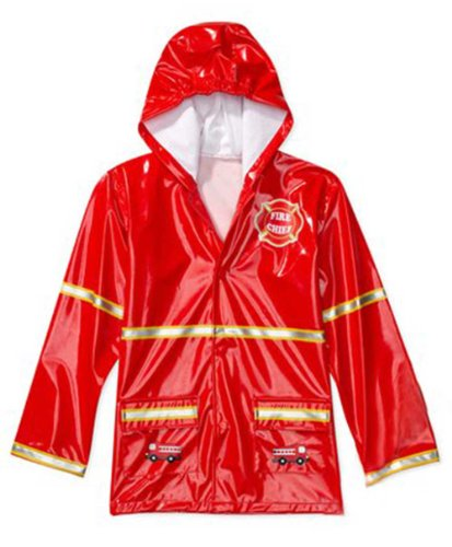 Boy's Red Fireman Rain Coat