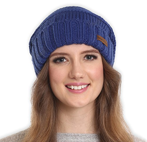 Slouchy Cable Knit Cuff Beanie by Brook + Bay - Stay Warm & Stylish this Winter - Chunky, Oversized Slouch Beanie Hats for Women & Men - Serious Beanies for Serious Style (with 10+ Colors)