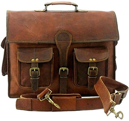 TUZECH Large Bold And Stylish Hunter Leather bag Handcrafted Messenger Office Regular Bag Fits Laptop Upto 15.6 - Leather Bold