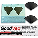 Filter Queen Activated Charcoal Filter Cones 8 Pack Odor Filters Replacement by GoodVac (8)