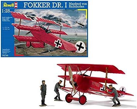 Revell Dr.I Maqueta Fokker DR. I Manfred Von Richthofen, Kit de Modelo, Escala 1:28 (4744) (04744), Multicolor: Amazon.es: Juguetes y juegos