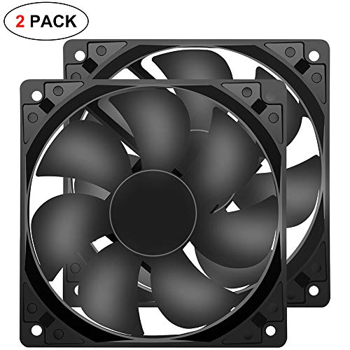 120mm 12025 Fan 120x120x25mm 12cm Computer PC Case Fan DC 12V 2Pin 2 Wire Cooling Fan 1600RPM 2-Pack